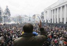 """Saakaşvili xalqı Poroşenkoya qarşı """"İmpiçment Marşı""""na çağırdı"""