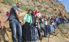 Gürcüstan polisi David-Qareci kompleksində insident baş verdiyini bildirib [VİDEO]