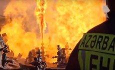 Bakıda daha bir bazar yandı - VİDEO