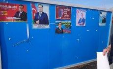 Namizədin plakatları cırılır, mağazalardan yığışdırılır - FOTO