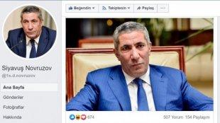"""""""Fikirlərimi daha çox sosial şəbəkədə açıqlayacam"""" - Siyavuş Novruzov"""