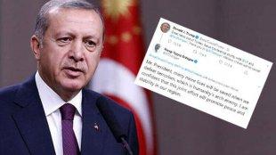 Ərdoğan Trampın tvitinə cavab verdi: