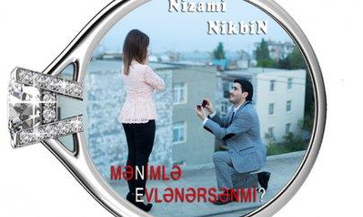 Gənc müğənnidən maraqlı evlilik təklifi - Video + Fotolar