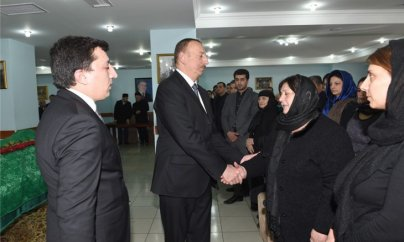 Prezident Zəlimxan Yaqubun vida mərasimində - FOTOLAR