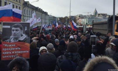 Moskvada Nemtsov yürüşü keçirilir