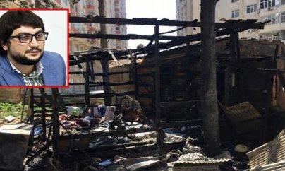 Ramin Hacılının evi yandırıldı - FOTOLAR