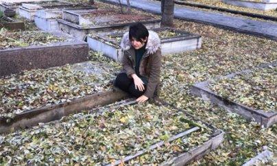Könül Şamilqızı Rəsulzadənin həyat yoldaşının məzarını tapdı - FOTOLAR