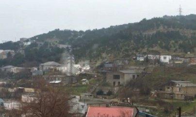Bayılda sürüşmə: evlər yıxıldı – VİDEO