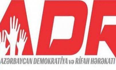 ADR Hərəkatının piketinə icazə verilməyib