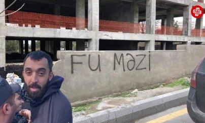 """Divara """"Fu Məzi"""" yazan fəalı vəkili ilə görüşməyə qoymurlar"""