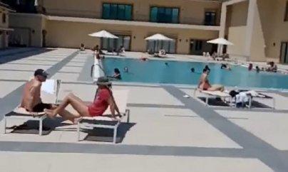 Bakıda daha bir hoteldə karantin qaydaları pozuldu (VİDEO)