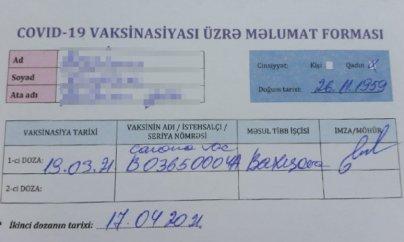 TƏBİB-dən saxta vaksin sənədi iddiası ilə bağlı açıqlama