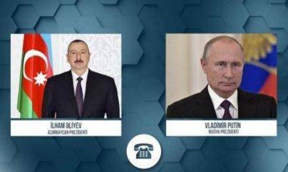 Putin İlham Əliyevlə də danışdı