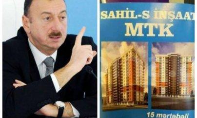 """""""Sahil - S İnşaat"""" MTK-da aldadılan sakinlər İlham Əliyevə müraciət etdilər"""